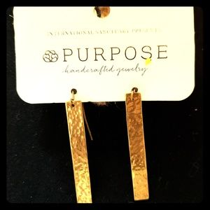 Gold Purpose earings